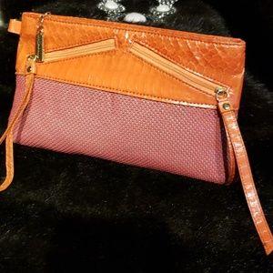 Whiting & Davis  Mesh & Snakeskin Clutch Bag